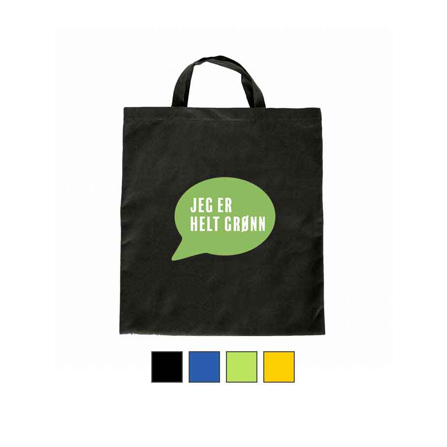 Handlenett Helt Grønn farget kort hank
