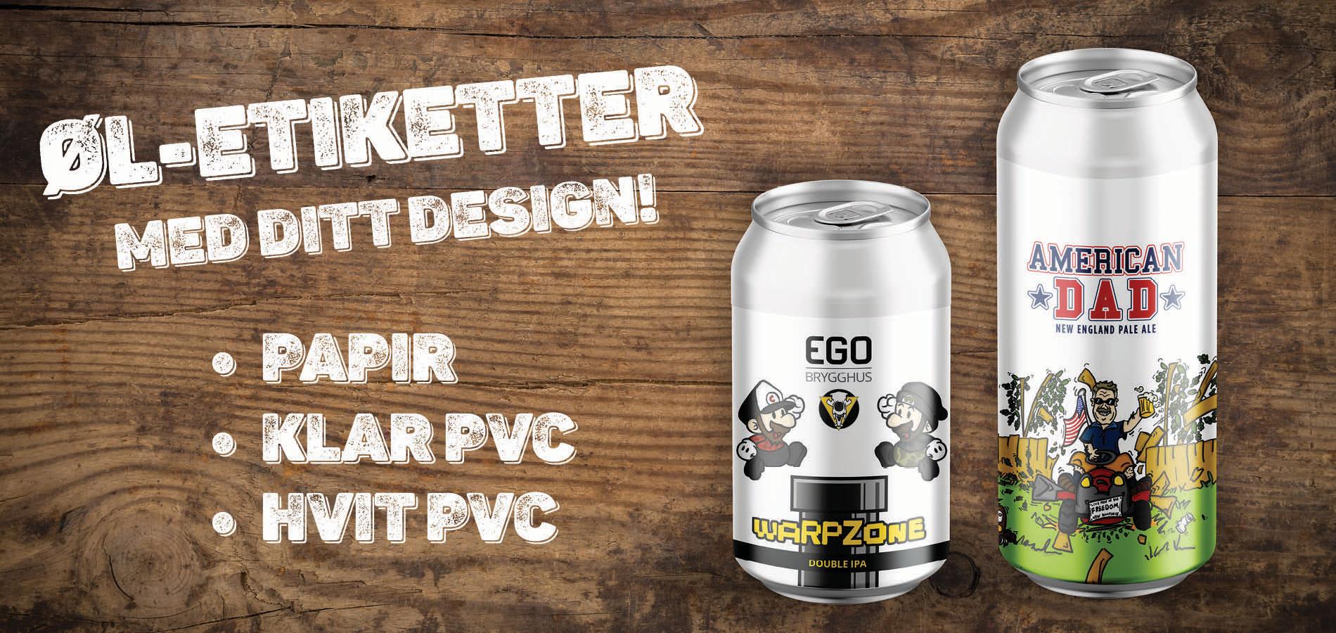 Øletiketter med ditt design