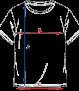 Størrelsesguide t-skjorte