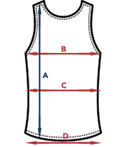Størrelsesguide tanktop