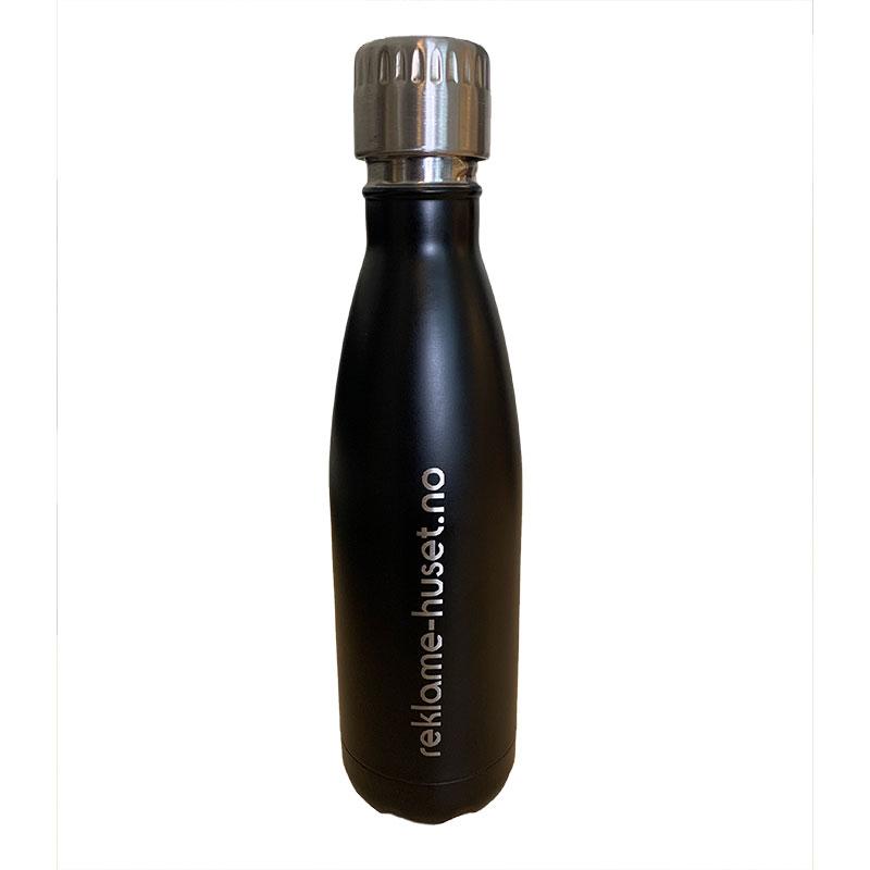 Gravert tekst på termoflaske