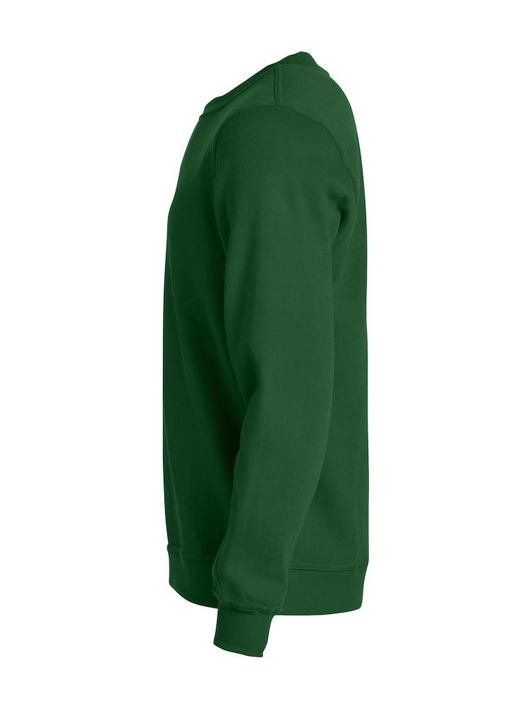 Clique Basic Roundneck sidevisning i flaskegrønn