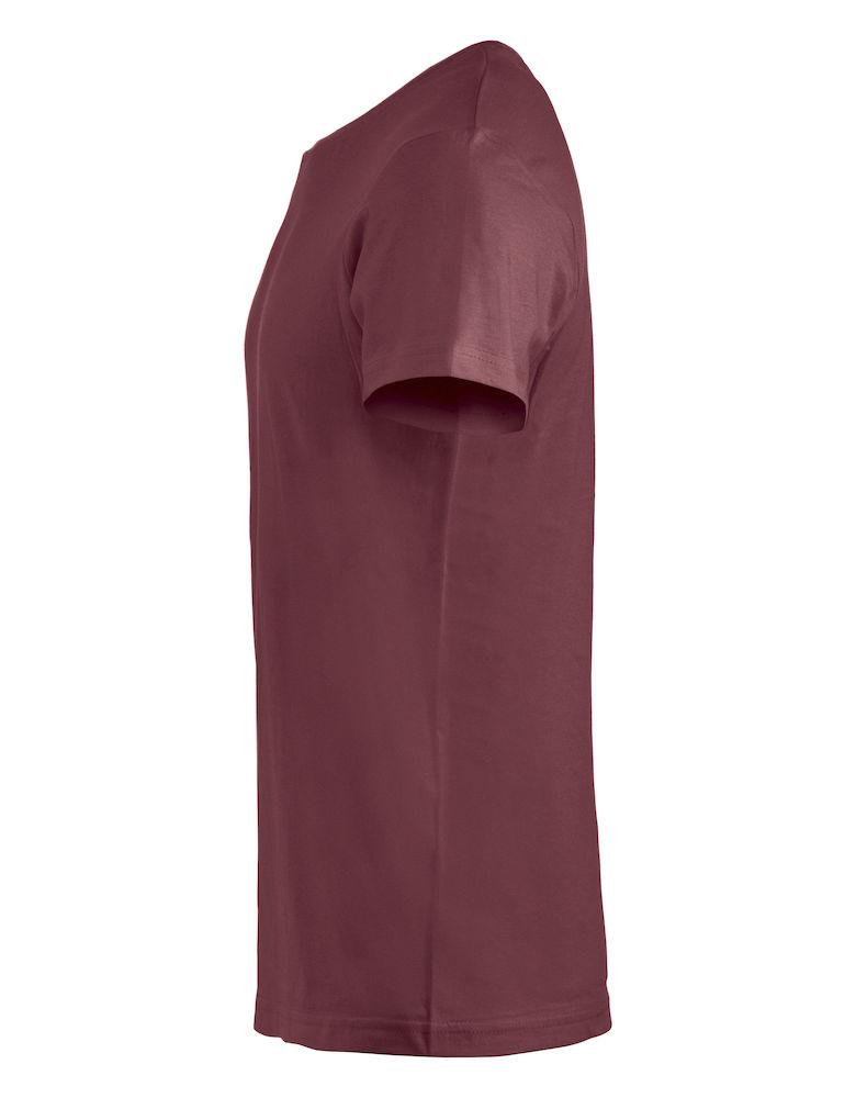 Clique Basic-T sidevisning i burgunder farge