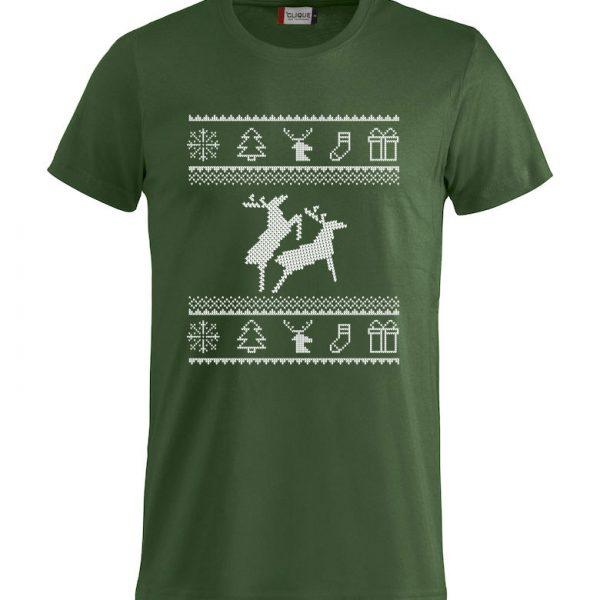 Grønn t-skjorte med to elger