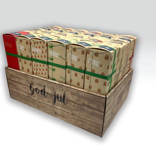 Pakkekalender med 24 tomme individuelle luker