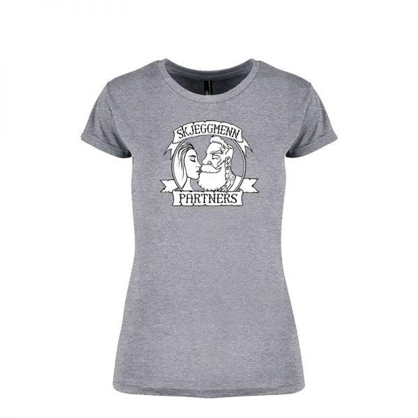 Skjeggmenn Partner T-shirt Ladies grå