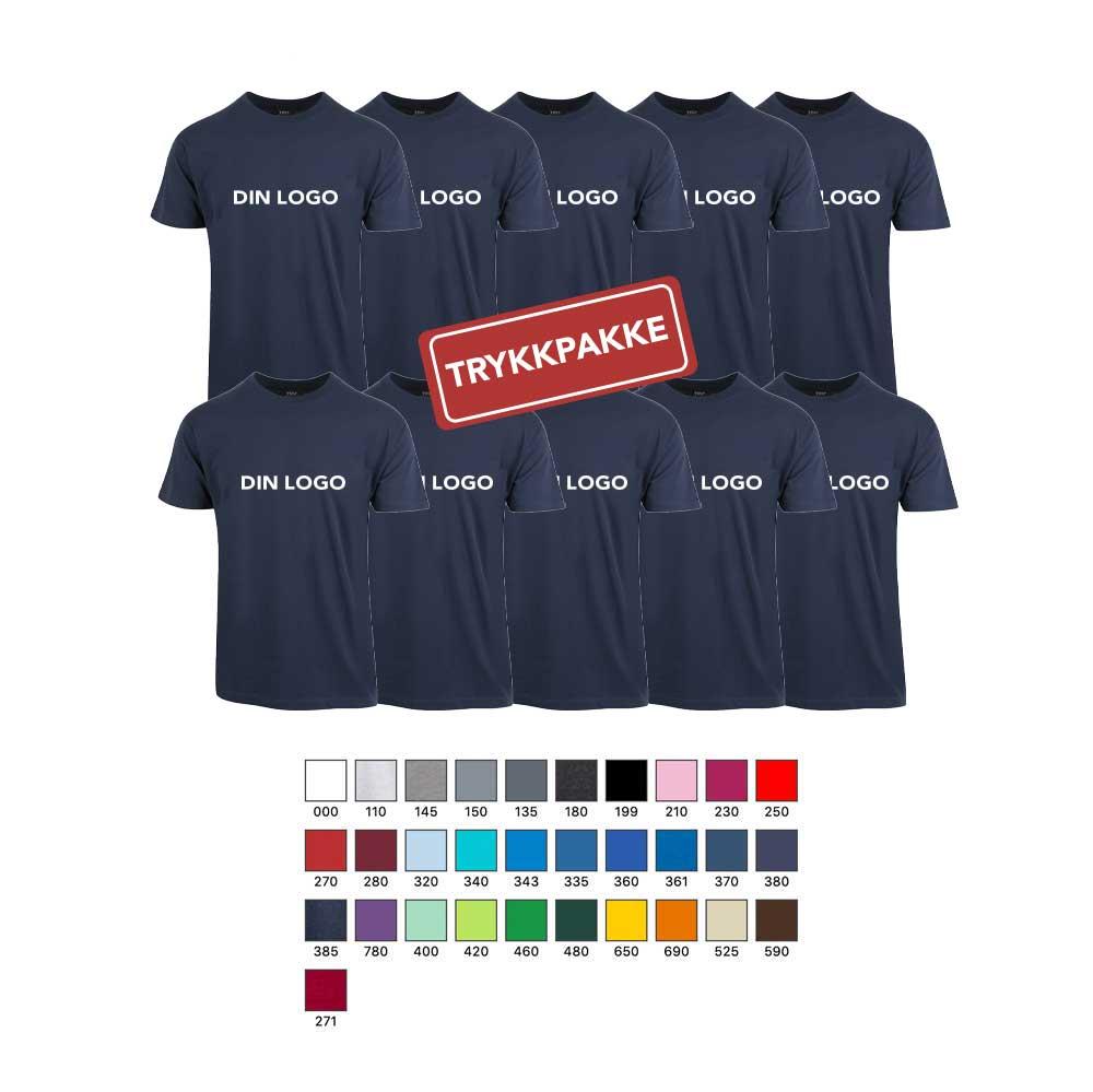 Trykke T skjorter for bedrifter og organisasjoner m.m.