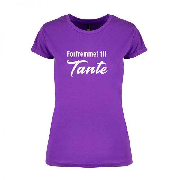 T-skjorte Forfremmet tante lilla