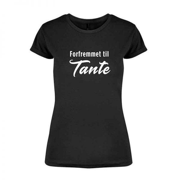 T-skjorte Forfremmet tante svart