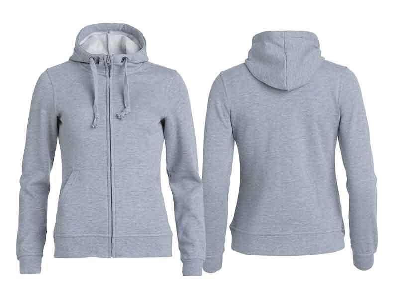 Basic Hoody Zip Ladies fra Clique