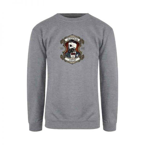 Grå genser med Skjeggmenn-design, till death do us apart
