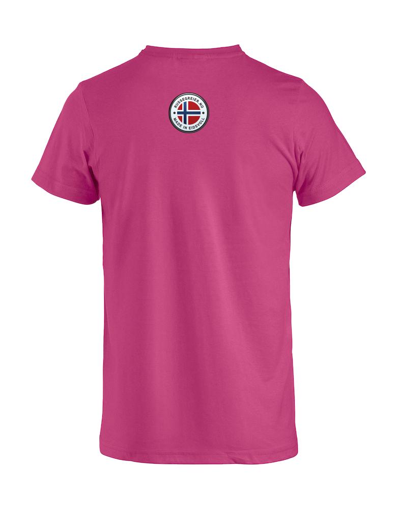 Rosa t-skjorte rygg