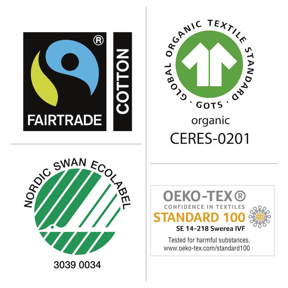 Fairtrade og Øko-tex sertifisering