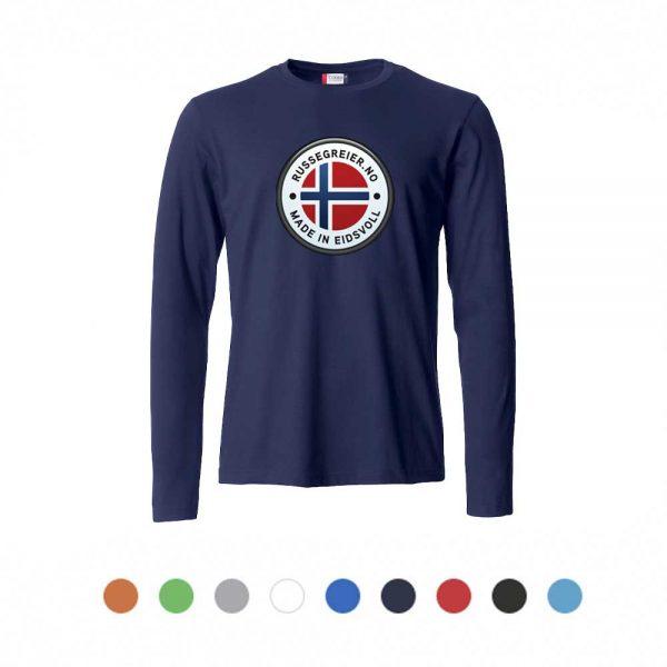 Langermet t-skjorte med stor russelogo på bryst