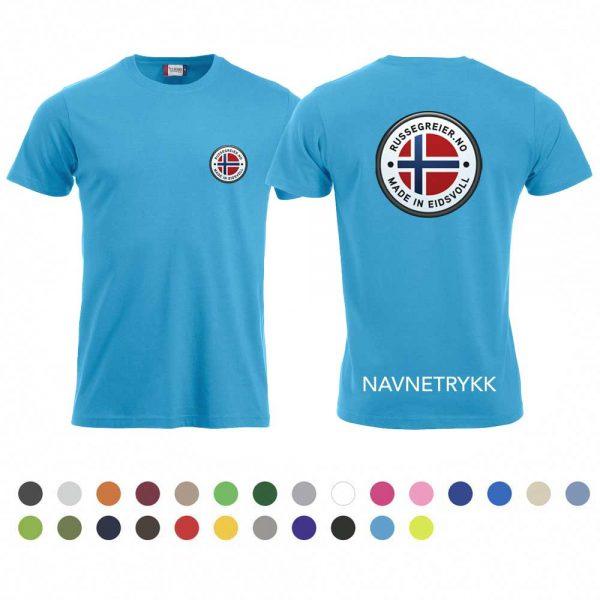 T-skjorte med russelogo på bryst og rygg