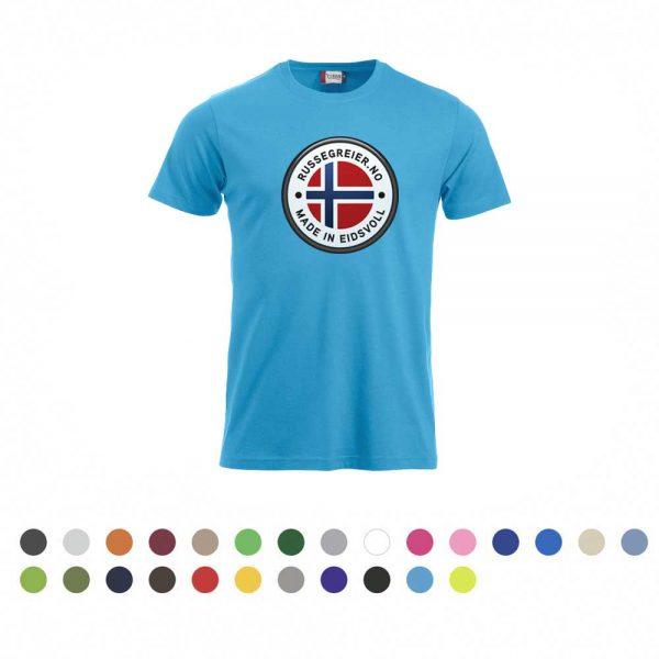 T-skjorte med stor russelogo på bryst