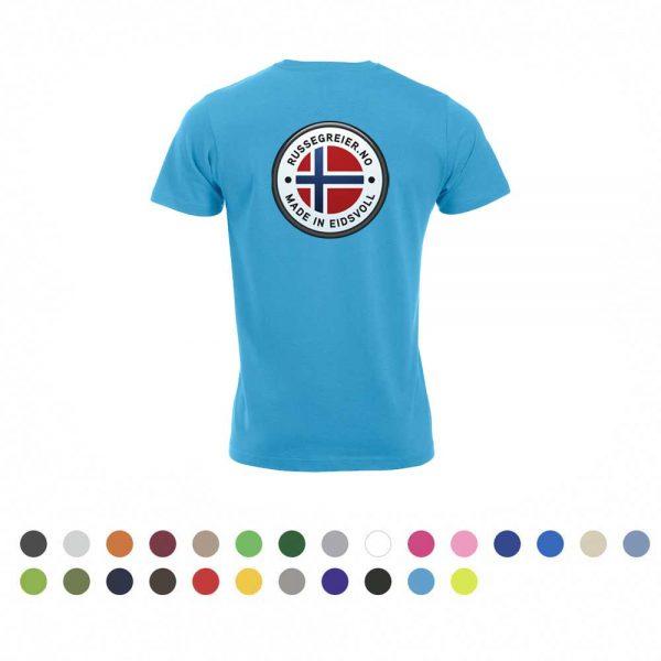 T-skjorte med stor russelogo på ryggen