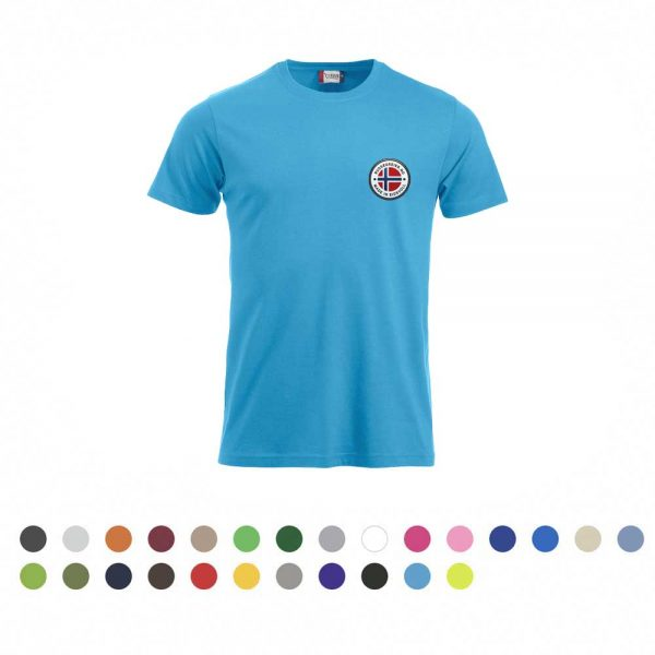 T-skjorte med liten russelogo på venstre bryst