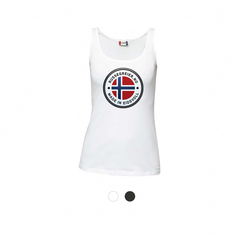 T skjorte Ladies med din russelogo Small Front valgfri