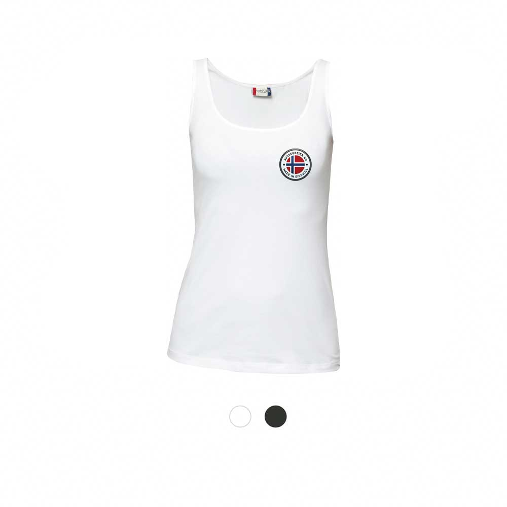 Tanktop for damer med liten russelogo på venstre bryst