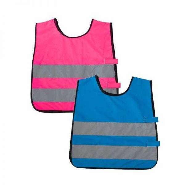 Markeringsvest for barn i blå eller rosa