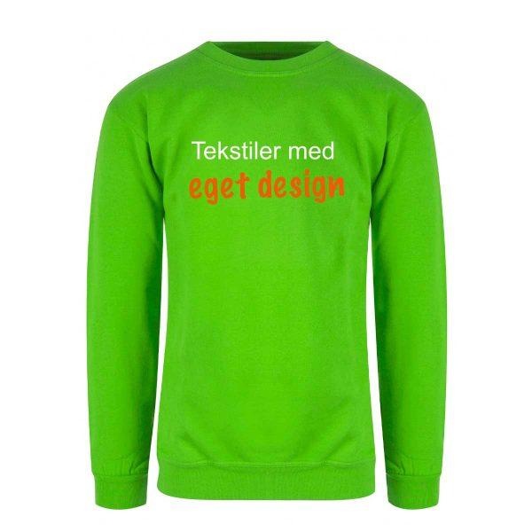 Grønn genser med eget design