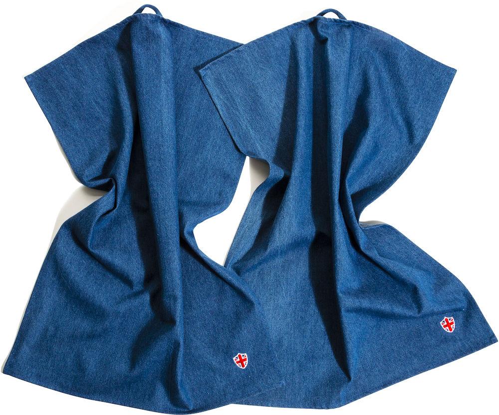 2 stk kjøkkenhåndkle i denim