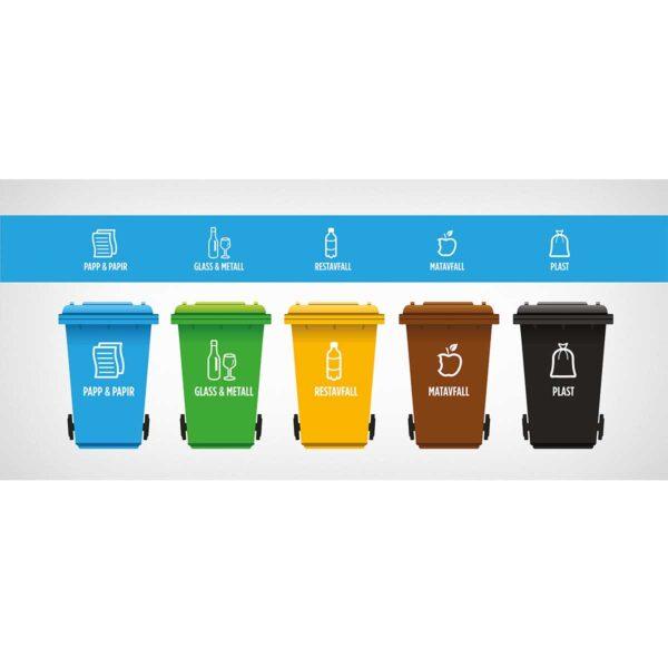 Standard dekor montert på søppelspann