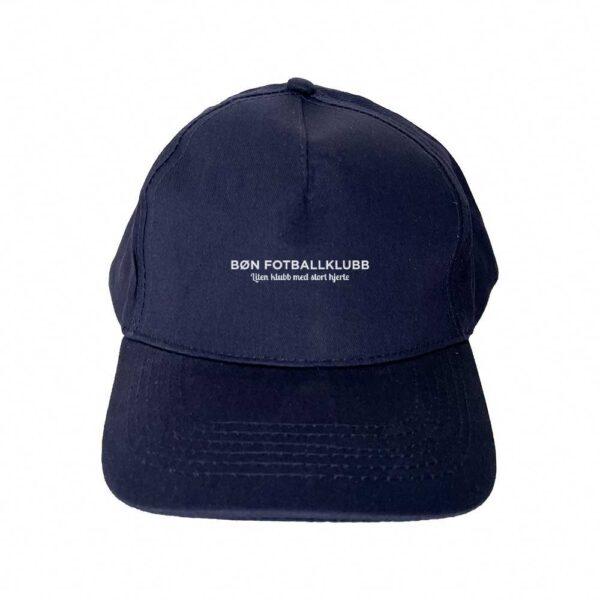 Marinefarget cap med hvit Bøn FK-logo i front
