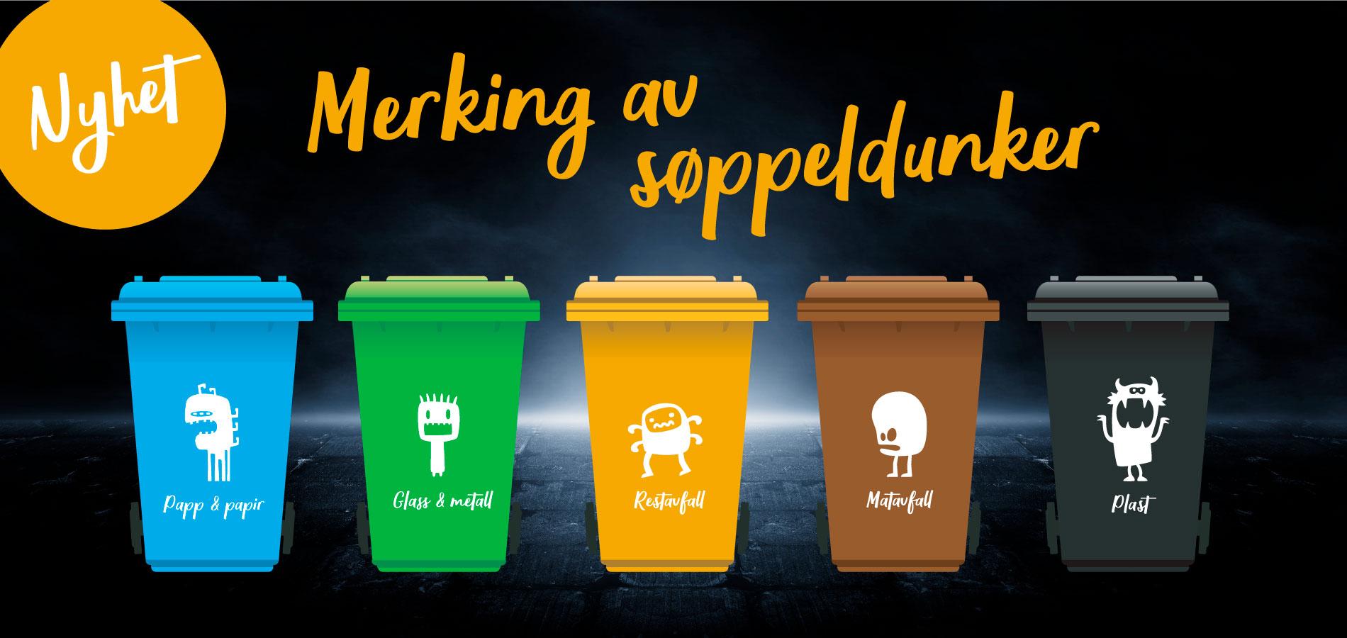 Nyhet: Merking av søppeldunker