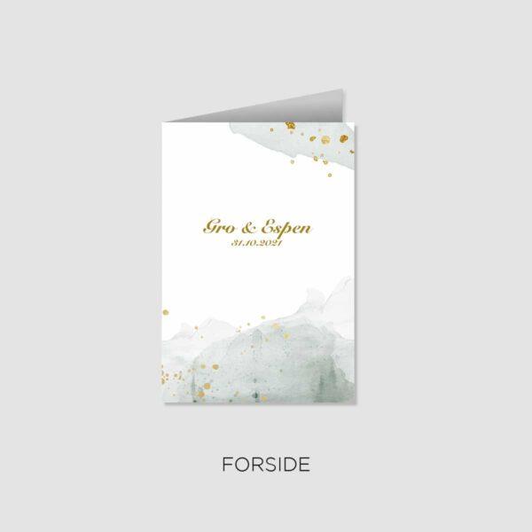 Folder i A5-størrelse til bryllup
